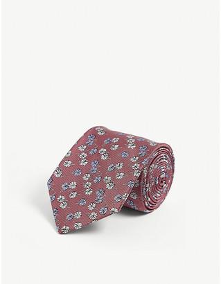 Lanvin Floral-pattern silk tie