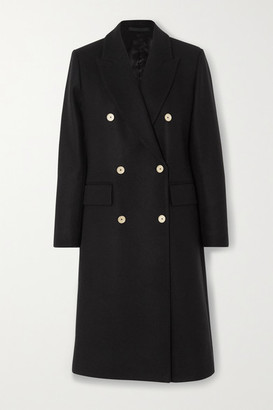 Officine Generale Clarissa Double-breasted Wool-blend Coat - Black