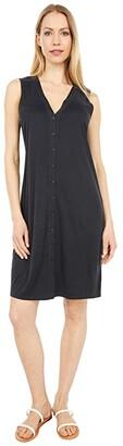 Lucky Brand Sandwash Rib Tank Dress (Washed Black) Women's Dress
