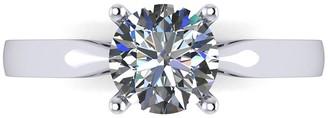 Moissanite Platinum 1/2ct Solitaire Ring