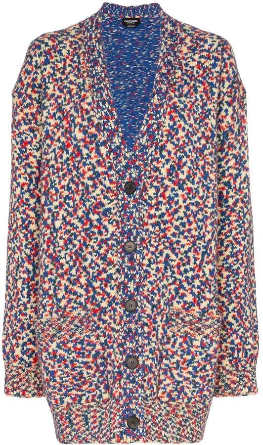 Calvin Klein oversized v-neck knitted cardigan