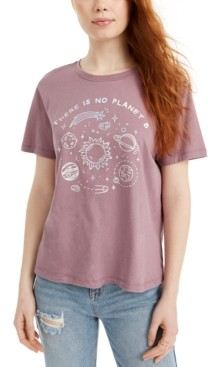 Rebellious One Juniors' Cotton Planet Graphic T-Shirt