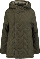 Maje Reversible quilted brushed-twill coat