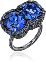 Irene Neuwirth 18K White Gold and Sapphire Ring