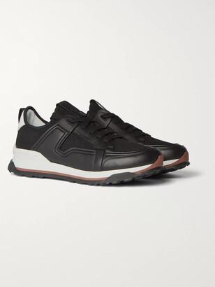 Ermenegildo Zegna Siracusa Leather And Mesh Sneakers
