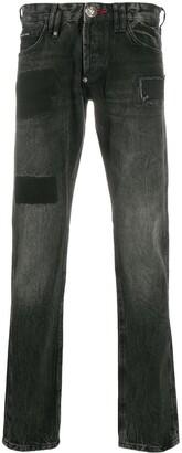 Philipp Plein Low-Rise Straight Leg Jeans