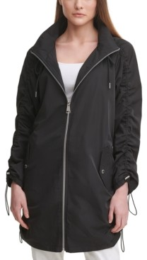Calvin Klein Ruched Hooded Utility Jacket