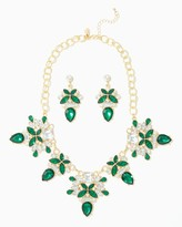 Charming charlie Cluster Jewel Statement Necklace Set
