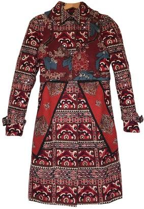 Burberry Burgundy Cotton Coats