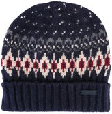 Woolrich patterned knit beanie