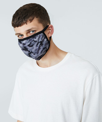 Standard Fitted Camo Face Mask Black