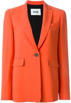 MSGM one button blazer - women - Polyester/Acetate/Viscose - 42