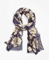 Brooks Brothers Metallic Floral-Print Scarf