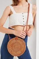 Urban Outfitters Structured Circle Straw Crossbody Bag