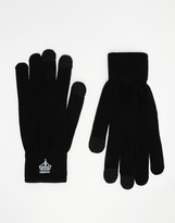 French Connection Touch Screen Gloves - Black