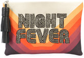Sarah's Bag night fever embroidered clutch