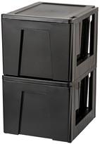 Iris Stacking File Storage Drawer - 2 Pack
