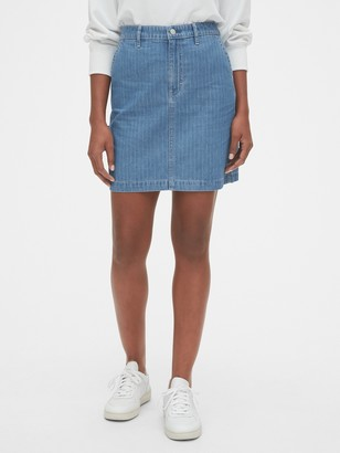 Gap Pinstripe Mini Skirt