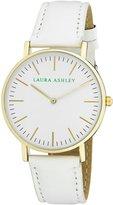 Laura Ashley Women's ' Quartz Metal and Polyurethane Casual Watch, Color: (Model: LA31020WT)