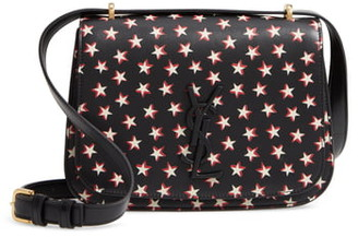Saint Laurent Small Spontini Star Print Leather Crossbody Bag