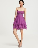 Mignon Flouncy Chiffon Embellished Dress