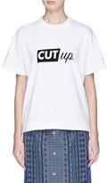Sacai 'Cut Up' print T-shirt