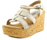 Sbicca Seacliff Open Toe Leather Wedge Sandal.