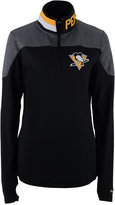 Reebok Women's Pittsburgh Penguins Performance Quarter-Zip Pullover