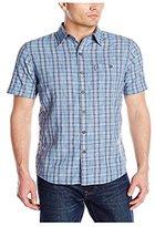 G.H. Bass Men's Short Sleeve Spacedye Medium Plaid Madawaska Shirt