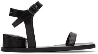 MM6 MAISON MARGIELA Black Cushion Heel Sandals
