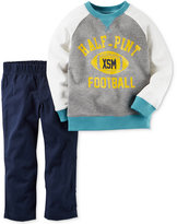 Carter's 2-Pc. Long-Sleeve Raglan Graphic Sweatshirt & Pants Set, Baby Boys