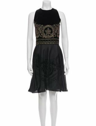 Gianni Versace Printed Knee-Length Dress Black