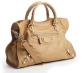 Balenciaga beige distressed leather 'Giant 12 City' convertible bag