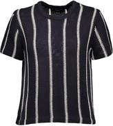 Theory Emmeris striped knitted cotton top