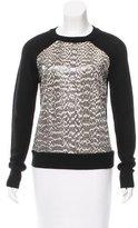 Jason Wu Wool Snakeskin-Paneled Sweater