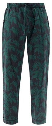 Desmond & Dempsey Byron-print Cotton Pyjama Trousers - Navy Print