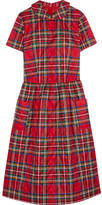 Comme des Garcons Quilted Tartan Shell Dress - Red