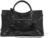 Balenciaga Classic City Croc-effect Leather Tote
