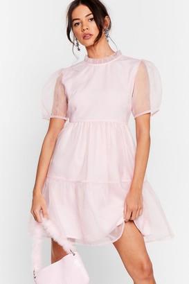 Nasty Gal Womens We Sheer What Your Sayin' Organza Mini Dress - Baby Pink