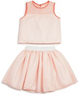 Pippa & Julie Girls' Sleeveless Top & Skirt Set