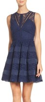 Adelyn Rae Women's Lace Fit & Flare Dress