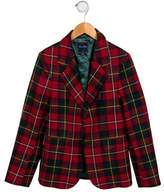 Oscar de la Renta Boys' Plaid Blazer w/ Tags