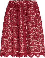 Madeleine lace and silk skirt