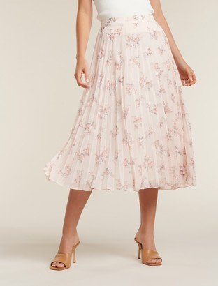 Forever New Isabel Pleated Skirt - Apricot Blossom - 4