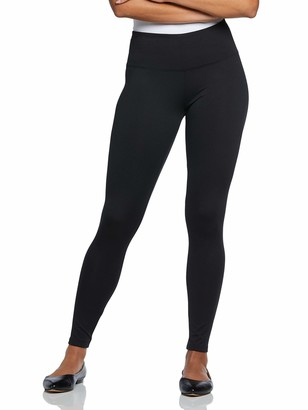 Berkshire Women's Petite Plus Size The Easy On Brushed Microfiber Wide Waistband Ankle Length Legging 5057