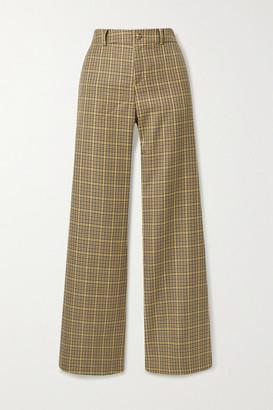 AVAVAV Checked Woven Straight-leg Pants - Beige