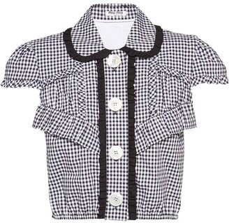 Miu Miu Gingham Check Shirt