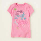 Children's Place Laugh with sis graphic tee