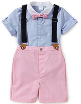 Edgehill Collection Baby Boys 12-24 Months Short-Sleeve Woven Shirt, Pants, & Suspenders Set