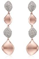 Monica Vinader Women's Nura Vermeil Diamond Drop Earrings
